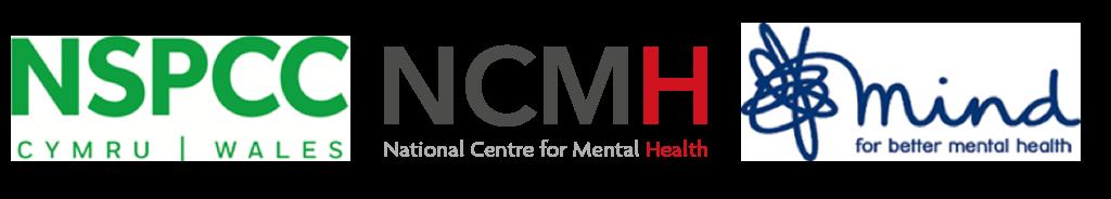 NSPCC Cymru, NCMH and Mind logos
